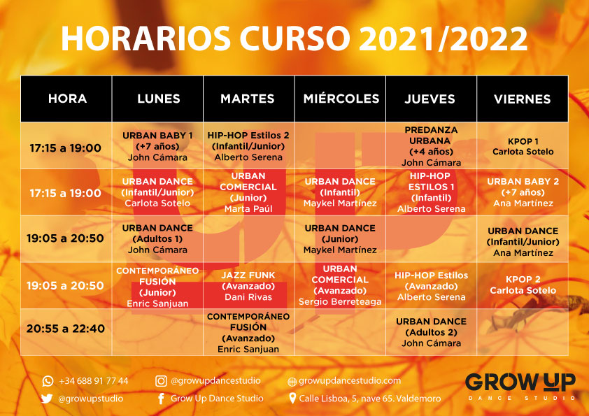 Nuevo Horario 2021/22